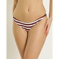 Eda Swimwear Riviera Classic Brief with Gold Sliders - Stripe