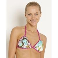 Ginja Tropicana Moulded Frill Triangle Top - White