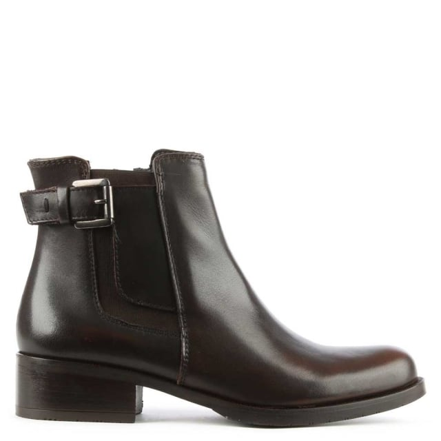 Lamica Brown Leather Chelsea Ankle Boot