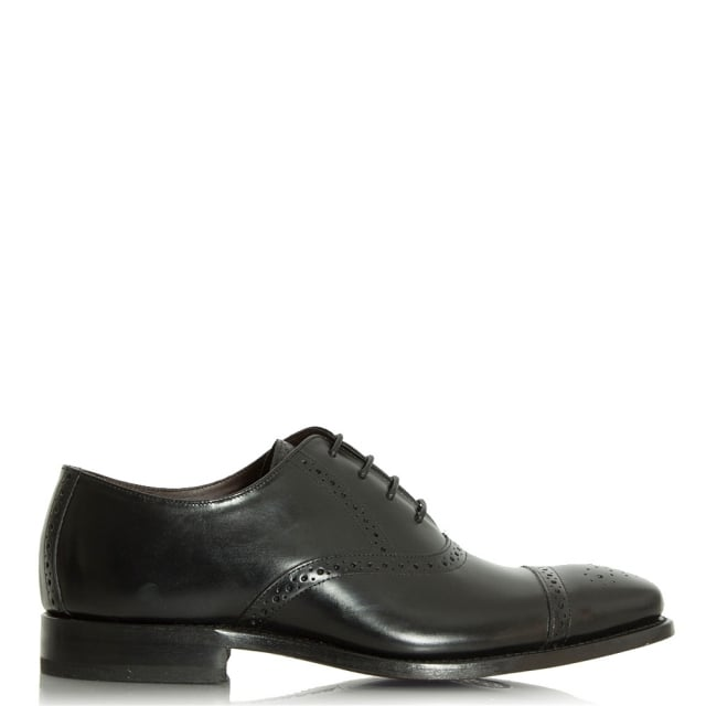 Barker Flynn Black Leather Lace Up Brogue
