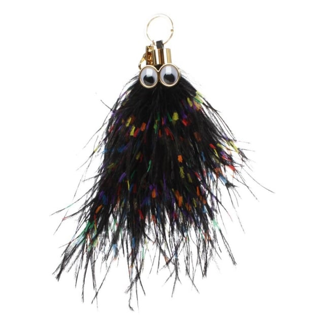 Sophie Hulme George Multicoloured Feather Keyring Charm