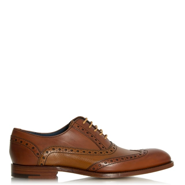 Barker Grant Tan Leather Lace Up Brogue