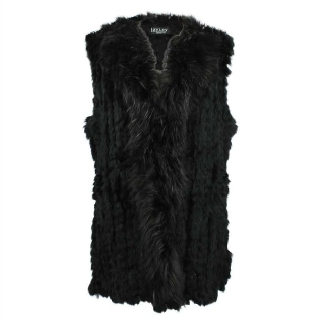 JayLey Kim 1 Black Fur Gilet