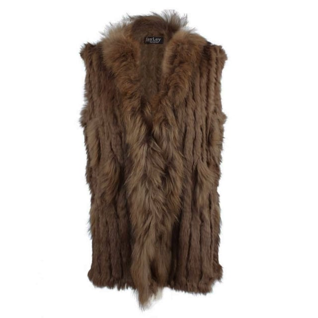 JayLey Kim 1 Brown Fur Gilet