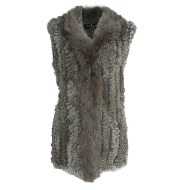 JayLey Kim 1 Grey Fur Gilet