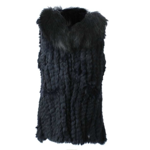 JayLey Kim 1 Navy Fur Gilet