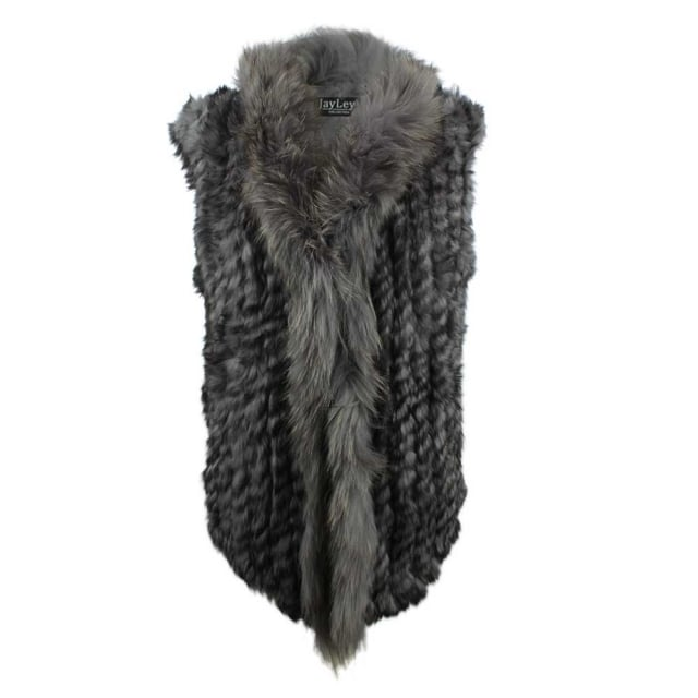 JayLey Kim 3 Grey Fur Gilet