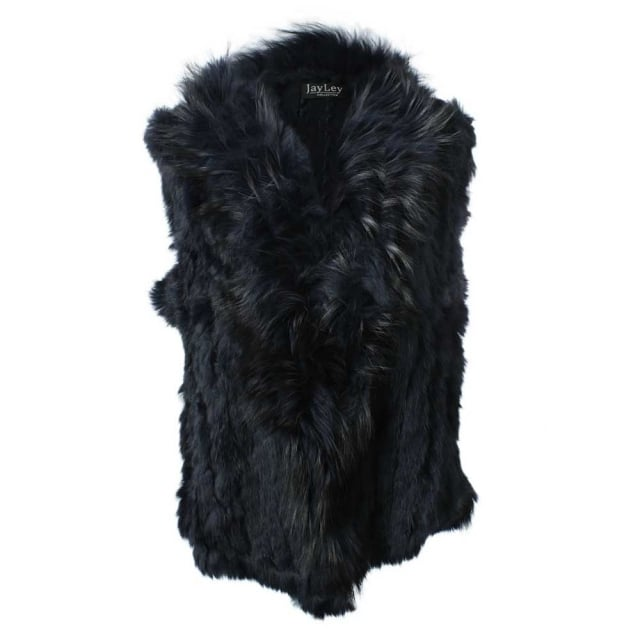 JayLey Kim 3 Navy Fur Gilet