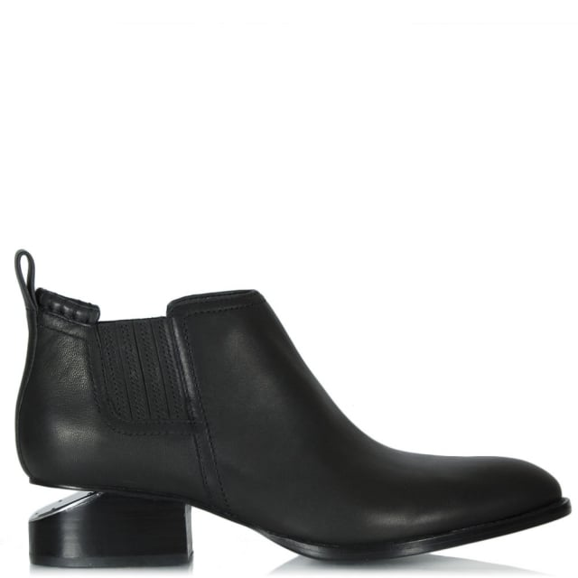 Alexander Wang Kori Black Leather Oxford Heel Ankle Boot