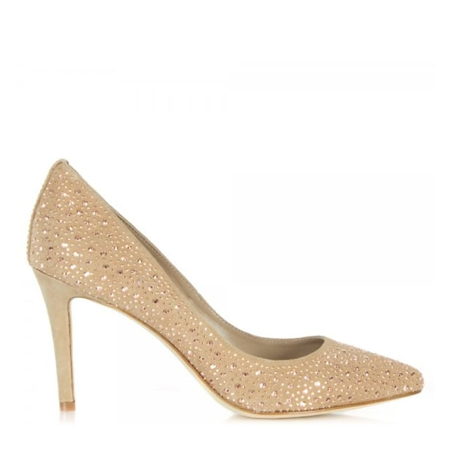 Lola Cruz Oliba Crystal Embellished Court Shoe