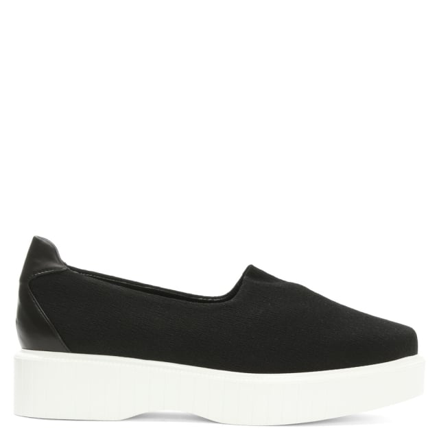 Robert Clergerie Pauli Black Stretch Jersey Slip On Flatform