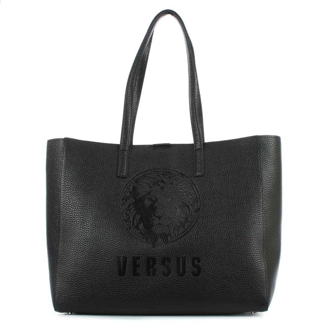 Versus Versace Pura Black Leather Shopper Bag