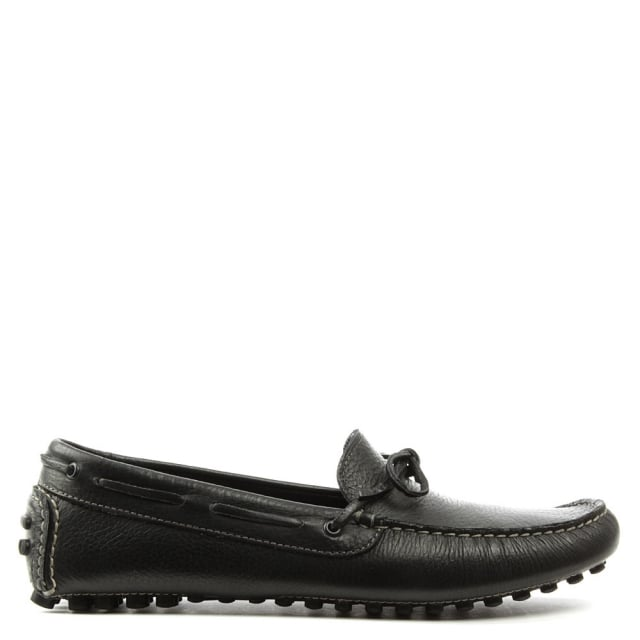 Roman Rock Rocky 104 Black Leather Driving Moccasin