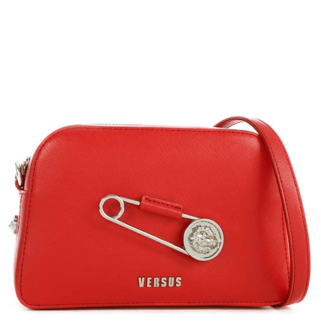 Versus Versace Sanur Red Leather Cross-Body Bag